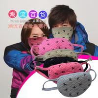 5 Pcs! Fashion Cartoon Bow Mouth Mask Anti-Dust Thermal Cotton Face Masks lovers Masks Snowboard Ski Riding Biker Mask
