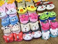 Free shipping! Hot sale fancy new fashion animal head designs cute anti-slip baby socks 6 pairs/lot
