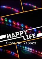 10PCS High quality 12V Waterproof flexible Car LED Strip PVC lights 24cm noen lighting white red yellow blue green RGB color