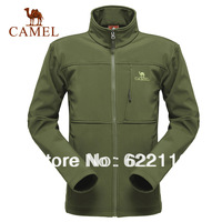 Camel Men's outdoor  windproof thermal casual  soft shell sportwear;outdoor outwear jacket,in stock,factory price