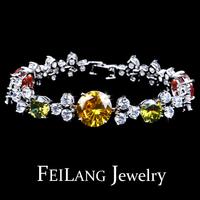 Ювелирное изделие Adjustable White Gold Plated Swiss Cubic Zircon Diamond Bracelet Fashion 2013 Shopping