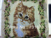 Animal print lovely cat cotton flax pillow cover home decor cushion cover for sofa or bed 50*50cm TH048