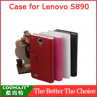 COOMAST  1PCS 100% original  Leather Case for Lenovo S890