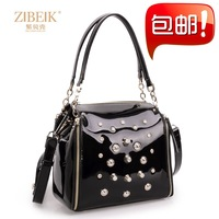 2013 women's handbag fashion bag casual bag rivet rhinestone bag laptop messenger bag
