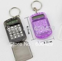 50pcs Fashion Cute Mini Pocket Calculator Keyring Key Chain Free Shipping