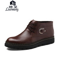 2013 autumn and winter male cotton-padded shoes casual shoes male thermal cotton leather male boots