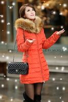 2013 New style large fur collar women down coat , new arrival , luxury fashion female Winter Jacket