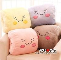 36*34cm Kawaii Smile Face Hand Warmer Stuffed Pillow Christmas Gifts Plush Wholesale Free Shipping