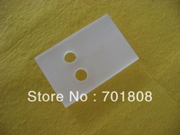 Frosted Quartz Plate with holes L83.5*W55*T10mm diamaeter of the holes is 12mm US$80/pc