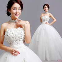 Cii Korean Bra straps lace princess bride wedding dress new new winter women