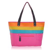 Wood beautiful color block women's brief shoulder bag handbag