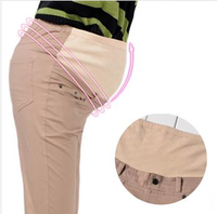 New Spring and Autumn Fashion elastic patchwork Pregnant Women Maternity Care Belly Pants