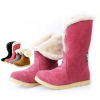 ENMAYER Free shipping Thicken Short Plush Women The Winter Snow Boots Fashion Shoes Brand For Women Winter Warm Boots