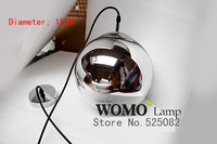 Free shipping plating glass chandeliers Copper visor mirror ball lights chandelier,chandelier bulb diameter 15 cm,Pendant Lights