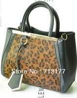 2013 winter brand handbag new designer snake shoulder bags women genuine leather leopard print bag  free shipping