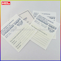 Big size apparel wash care label printing