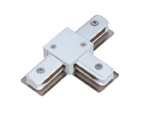 Three-way track connector, middle joint rail connector rail connector white / black,T way track connector