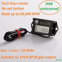 SRT-26 engine hour meter tachometer ,motocycle hour meter Tachometer ,IP68 waterproof