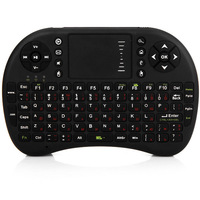2.4GHz UKB-500-RF Mini Wireless Keyboard Mouse Touchpad Combo with Business Lecture System (Black)
