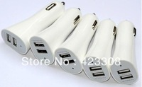 Mini  5V 2.1A/1A Dual USB Car Charger For Apple ipad ipod iphone  free shipping