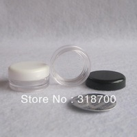 Free shipping- 2g PS cream jar with seal, cosmetic container, sample jar,display case,cosmetic packaging