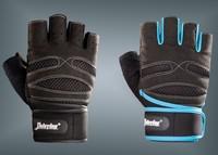 Double 202 male fitness sports slip-resistant semi-finger long wrist support gloves