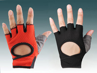 Double women's fitness elastic breathable instruments sports slip-resistant ride bicycle gloves