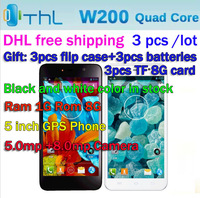 "3 pieces/lot Original ThL W200 Smart Mobile Phone MTK6589T Quad Core 1.5GHz 5.0"" IPS 1G RAM 8G ROM Android 4.2 Smartphone"