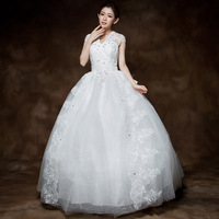 2013 slit neckline princess bride wedding qi formal dress maternity plus size