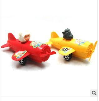 FREE SHIPPING,Child's Educational toy pull back toys plastic Mini plane toy , 2pcs/lot(China (Mainland))