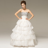New arrival 2013 sweet tube top wedding dress the bride wedding dress formal dress