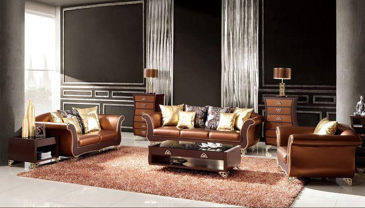 Achetez en gros canap s modulaires meubles salon en ligne des grossistes ca - Salon cuir italien moderne ...