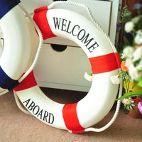 Free shipping New 2014  Zakka Mediterranean-style decorations buoy 35cm in diameter Household Wall Stickers ornaments Home decor