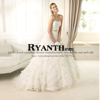 Ryanth bridal- the latest style ball gown off shoulder lace up wedding dress RWD-131