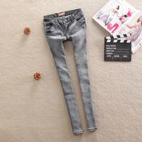 Autumn women's dark color low-waist jeans female trousers skinny pants pencil pants female denim