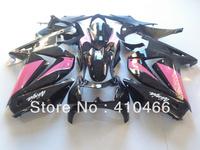 Injection Mold Fairing kit for KAWASAKI Ninja 250R ZX250R ZX250 08 09 10 11 12 EX250 2008 2012 pink gloss blk Fairings set  KH25