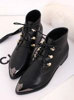 Gigi 2013 autumn and winter fashion vintage boots metal lacing martin boots flat heel boots