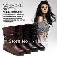 Hot Sale 2013 New High Quality fashion Ladies Martin Boots Waterproof Shoes Brown Black