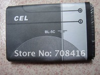 BL-5C BL5C lithium cellphone battery rechargeable replacement mobile phone battery for 6600 N70 N71 N72 N91 E60,free shipping