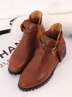 Gigi martin boots handsome fashion preppystyle leather hasp casual boots motorcycle boots