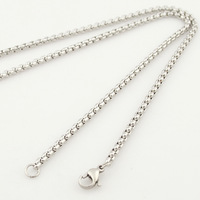 Men's accessories jewelry 50.5cm*3mm silver hollow necklace chain Stainless steel jewellery for boyfriend,Wholesale+Retail,VN140