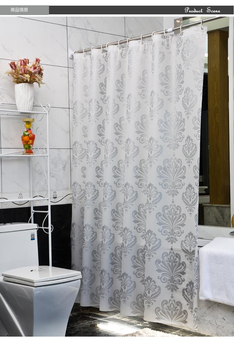 Cortinas De Baño Vintage:Silver Shower Curtain