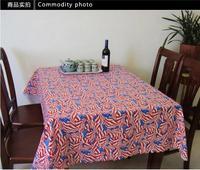 Grey full cir print table cloth tablecloth 180x180cm circle thickening
