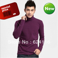 M26 2pcs/lot XXL New Fashion Winter Autumn Men T-shirt Bulky Turtleneck Male High-neck Warm Boy Base shirt