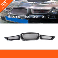 3PCS/SET CARBON FIBER GRILLE AUTO CAR FRONT GRILL GRILLE  FITS SUBARU IMPREZA/WRX 9th GERNERATION 08-12