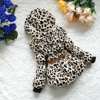 On sale 2013 children's winter  baby coat Female child wadded jacket baby Leopard Print cotton padded jacket