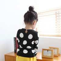 Ilovej children's clothing 2013 knitted belt dot long-sleeve top jlfto05