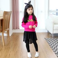 Ilove children's autumn clothing 2013 female child long-sleeve T-shirt jlfto30