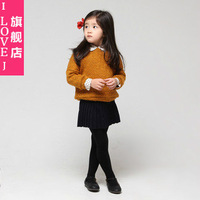 Children's clothing 2013 autumn and winter child pleated skirt bust skirt short skirt solid color all-match 0395