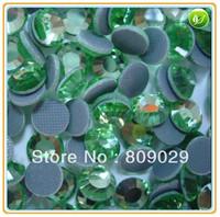 Big Promotion! SS10 3mm, 288pcs/Bag Peridot  DMC HotFix FlatBack Rhinestones,DIY iron-on Hot Fix crystal stones